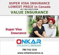 Super Visa/Travel insurance monthly plan at 780 716 1516