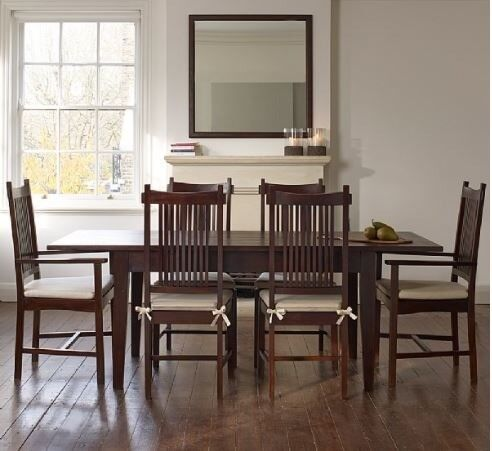 Extendable Solid Indonesian Teak Dining Table And X Chairs In - Indonesian teak dining table