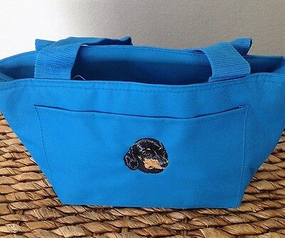 EMBROIDERED DOG BREED DACHSHUND LOVER GIFT INSULATED LUNCH COOLER TOTE BAG