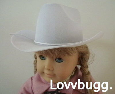 Cowboy And Girl (White Cowboy Hat for American Girl Doll Clothes Western Riding and Lowest)