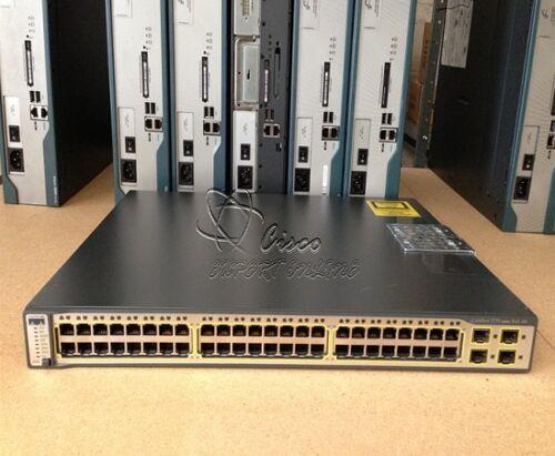 Cisco 3750 Ws-c3750-48ps-e 48 Ethernet 10/100 Poe Catalyst Switch Ipservices Ios