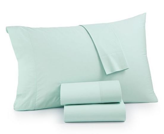 Whim By Martha Stewart Collection Vintage Washed 4-pc.King Sheet Set Seaglass - $97.49