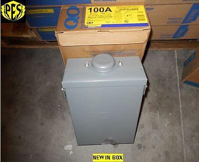 NIB SQUARE D QO612L100RB 100 AMP SINGLE PHASE N3 OUTDOOR LOAD CENTER WITH (Square D 100 Amp Outdoor Load Center)
