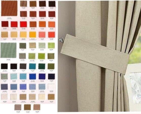 SOLID COLOR Sunbrella Canvas Outdoor Curtain Tie Back