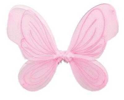 Rosa Flügel Kostüm (Rub - Karneval Zubehör Flügel in rosa zum Fee Elfe Kostüm an Fasching)