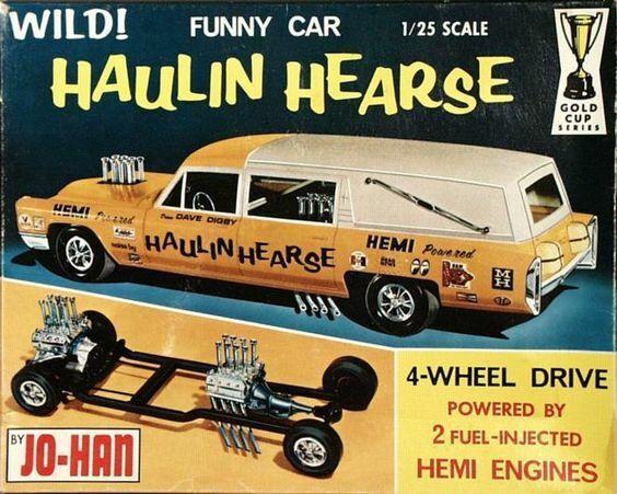 Jo-Han Hauling Hearse Model Kit Ad  Refrigerator / Tool Box