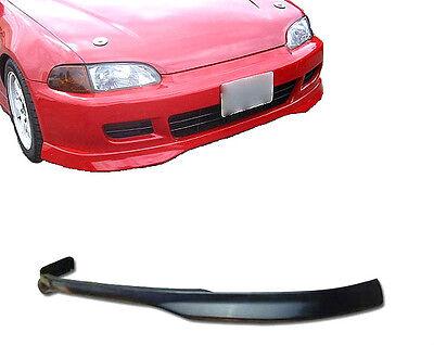 92-95 Civic 2/3 Door Type-r Poly Urethane Black Add-on Front Bumper Lip Spoiler