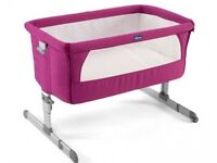 Chicco Next 2 Me Bedside Crib with brand new unopened fitted sheet.