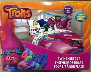 NEW Trolls Twin Sheet Set never been opened or used