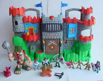 Fisher Price Imaginext Great Adventure Fold N Carry CASTLE KNIGHT CYCLOPS EXTRAS