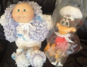 "Cabbage Patch Doll And Robins 12""(Vintage) Plush Bird.Both $20.0"