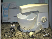 Kenwood Chef Food Mixer, with attachments, manual and recipe book