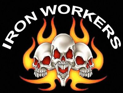 Ironworker With Flames And Skulls Ciw-1