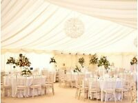 MARQUEE HIRE PACKAGE - WALL, CEILING LINING, CARPET AND LIGHTS - 6 X 10M-KENT