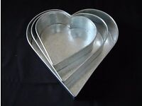 3 Tier Heart Shaped Cake Tins - Brand new in box - never used