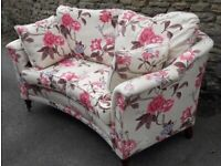 Two seater settee - virtually new