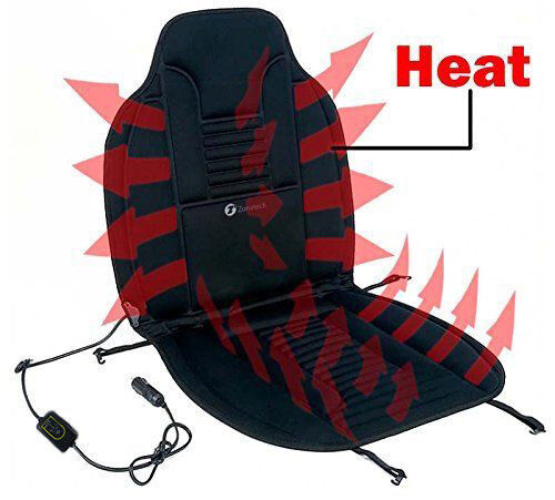 Zone Tech Heated Car Seat Heating Warmer Pad Hot Cover