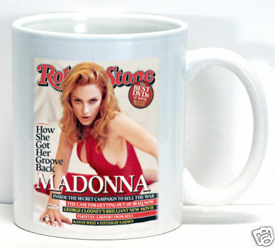 Madonna Rolling Stone Cover Coffee Cup Mug Unique Collectible Gift Music Fan