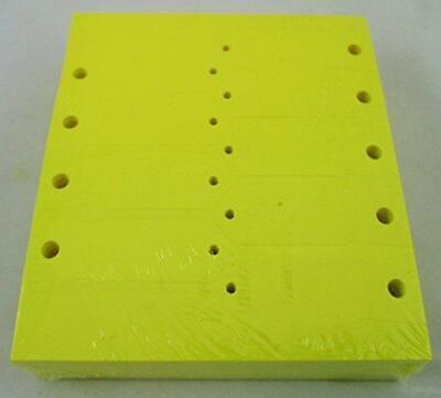 Yellow Self-locking Arrow Key Tags 1000 Per Pack Size 4 12 X 34 Yellow