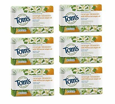 Tom's of Maine Natural Beauty Bar Soap. Natural Soap. Orange 5 Ounce 6-Pack Toms Of Maine Lavender Soap