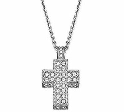 Swarovski Cross Silver Size 15.5 inches Pendant Necklace 861332**Open Box**