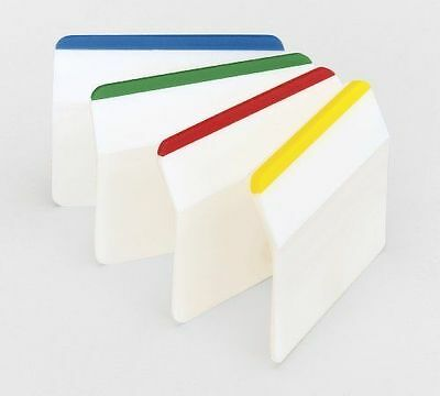 New Post-it Angled Index Filing Sticky Note Repositionable Makers Tabs 4 Colours