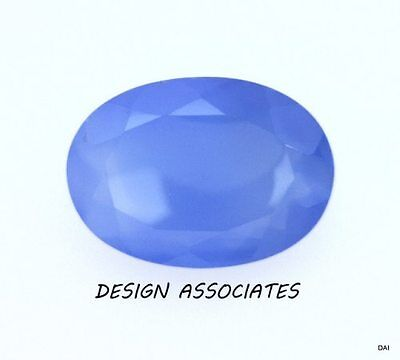 DARK BLUE CHALCEDONY 10X8 MM OVAL OUTSTANDING BLUE COLOR