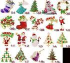 Rhinestone Christmas Pins