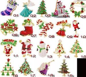 rhinestone christmas pins - Christmas Pins