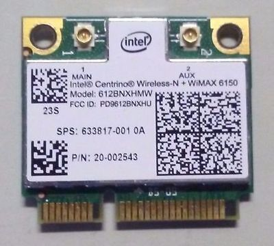 Intel 612BNXHMW Centrino Wireless-N + WiMax 6150 Mini PCI-Express WiFi Adapter  Intel Wireless-n Adapter