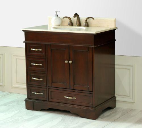36 Quot Oak Bathroom Vanity Ebay