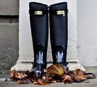 Hunter Leather Rainboots Boots for Men