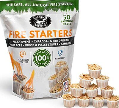 Superior Trading Co. All Natural Fire Starter 10-15 Minute Burn for BBQ Campf...