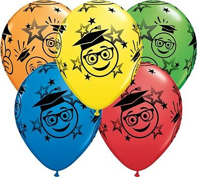 5 Luftballons Graduation Abitur Prüfung, sortiert, Qualatex, ca. 30 cm