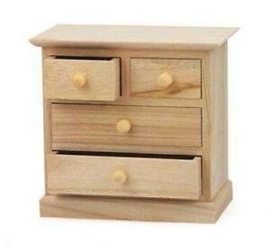 Mini 17cm Craft Wooden Cabinet Large Small Drawers Jewellery Paint Decorate