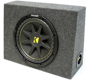 KICKER 12 INCHES LOADED SUB TRUCK SUBWOOFER BOX WITH FOUR OHMS C12 PACKAGE NEW