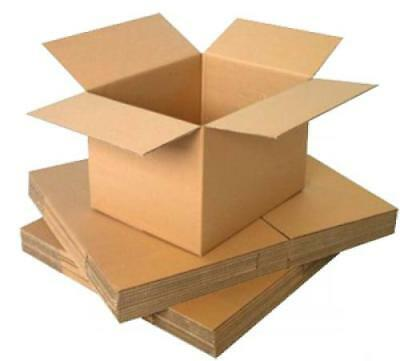 5 x 8x6x4 in STRONG SINGLE WALL CARDBOARD BOX - POSTAL REMOVAL MOVING -QUALITY