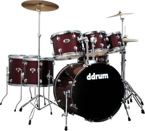 7 piece drum set ebay. Black Bedroom Furniture Sets. Home Design Ideas
