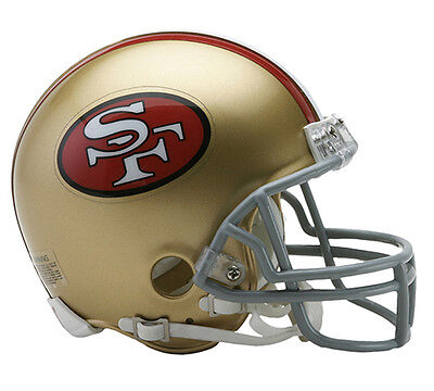 SAN FRANCISCO SF 49ERS THROWBACK 1964-1995 RIDDELL NFL FOOTBALL MINI HELMET