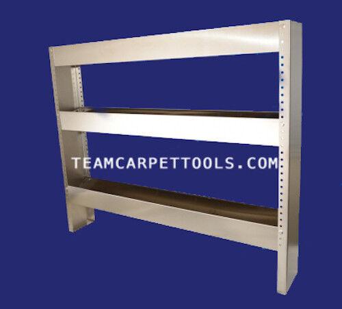 "WestPak Carpet Cleaning 48"" Stainless Steel 3-Tier Chemical Van Shelf Truckmount"