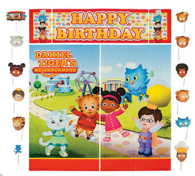 DANIEL TIGER'S NEIGHBORHOOD birthday party Scene Setter & photo booth kit - Photo Booth Kit