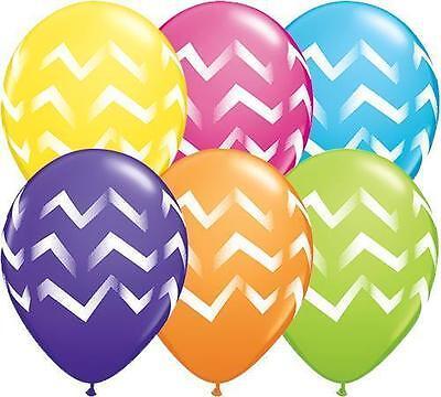 Chevron Birthday Decorations (Chevron Stripe Latex Balloons Qualatex Birthday Party Decor New Years 11