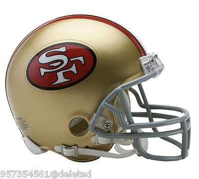SAN FRANCISCO 49ERS 1964-95 THROWBACK NFL MINI HELMET