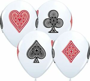 Latex Balloons Card Suits Poker Casino Theme 11