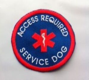 Royal Blue Sew-On Patch Embroidered Sew-On-ACCESS REQUIRED SERVICE DOG