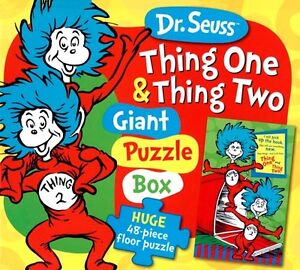 ▀▄▀Dr. Seuss Thing One Thing Two 48 Piece Floor Puzzle
