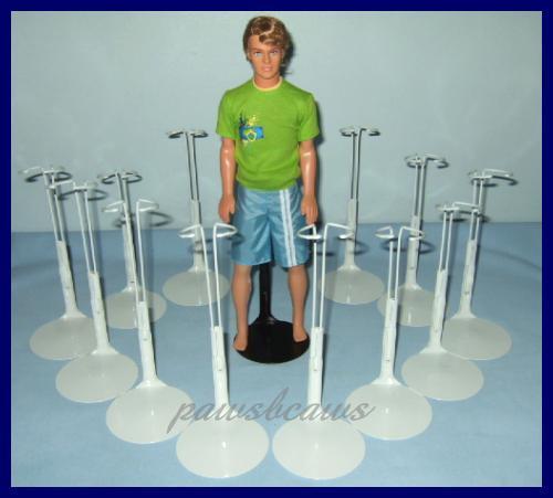 """12 New WHITE Kaiser 2101 Doll Stands For KEN 12"""" G.I. Joe Action Figures"""