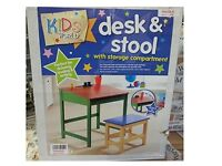 Childrens Desk & Stool Set and Bookcase