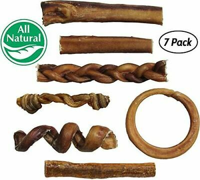 Bully Stick Variety Pack for Dogs Best Mix of Natural LowOdor Beef Stix Piz