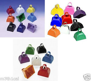 Lot-of-12-Metal-Cowbells-3-034-Cow-Bell-Cowbell-Toy-Instrument-Noisemaker
